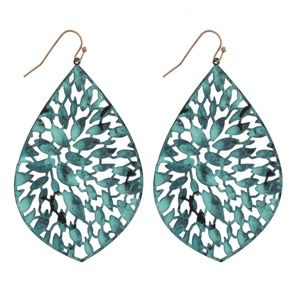 NWT**BOUTIQUE*** TURQUOISE DROP EARRINGS